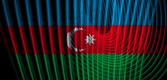 Die Staatsflagge von Aserbaidschan lizenzfreie abbildung