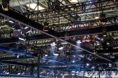 Die Stadiumsbeleuchtung Stockbilder
