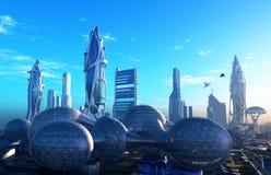 Die Stadt der Fantasie stock abbildung