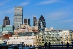 Die Stadt der London-Skyline stockfotos