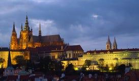 Die Stadt der Prag-Nachtszene Stockfotografie