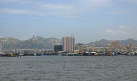 Die Stadt der Seeseite Lizenzfreies Stockbild