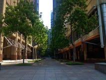 Die Stadt-Ecke ist tot stockbild