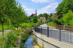 Die Stadt Kamenz, Sachsen in Deutschland lizenzfreies stockfoto