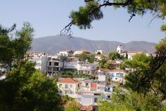 Die Stadt Limenaria Stockfotos