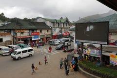 Die Stadt Nuwara Eliya in Sri Lanka Stockbild