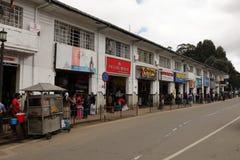 Die Stadt Nuwara Eliya in Sri Lanka Stockbilder