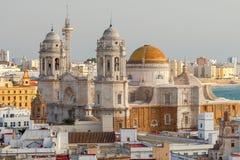 Die Stadt ` s Hauptkathedrale in Cadiz lizenzfreies stockfoto