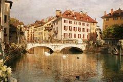 Die Stadt von Annecy, Frankreich lizenzfreies stockfoto