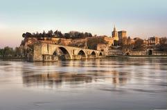 Die Stadt von Avignon am Sonnenuntergang Lizenzfreie Stockbilder