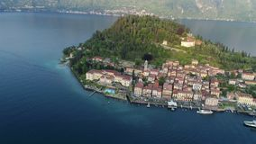 Die Stadt von Bellagio über Ansicht stock video footage