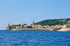 Die Stadt von Budva in Montenegro Stockbilder