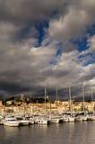 Die Stadt von Cannes, Südfrankreich stockfotos