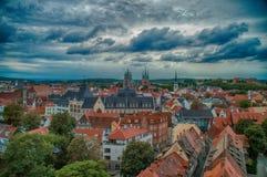 Die Stadt von Erfurt Stockbild