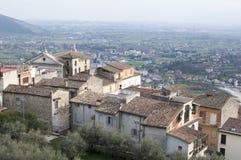 Die Stadt von Ferentino in Italien Stockbild
