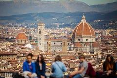 Die Stadt von Florenz in Toskana, Italien Stockfoto