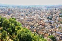 Die Stadt von Granada in Spanien Stockbild