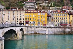 Die Stadt von Grenoble, die Hauptstadt der französischen Abteilung von Isere Lizenzfreie Stockbilder