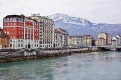 Die Stadt von Grenoble, die Hauptstadt der französischen Abteilung von Isere Lizenzfreie Stockfotos