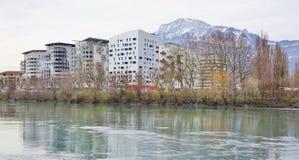 Die Stadt von Grenoble, die Hauptstadt der französischen Abteilung von Isere Stockbilder