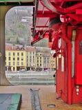 Die Stadt von Grenoble, die Hauptstadt der französischen Abteilung von Isere Lizenzfreies Stockfoto