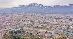 Die Stadt von Grenoble, die Hauptstadt der französischen Abteilung von Isere Stockfotografie
