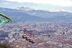 Die Stadt von Grenoble, die Hauptstadt der französischen Abteilung von Isere Stockbild