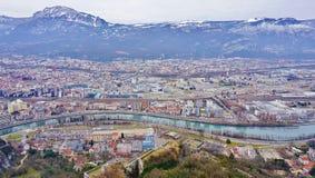 Die Stadt von Grenoble, die Hauptstadt der französischen Abteilung von Isere Lizenzfreies Stockbild
