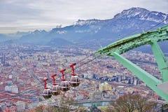 Die Stadt von Grenoble, die Hauptstadt der französischen Abteilung von Isere Lizenzfreie Stockfotografie