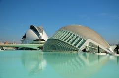 Die Stadt von Künsten und von Wissenschaften in Valencia Lizenzfreies Stockbild