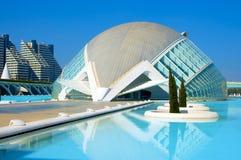Die Stadt von Künsten und von Wissenschaften von Valencia Stockfotos