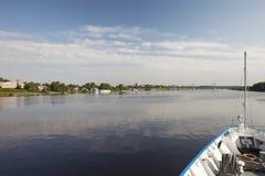 Die Stadt von Kimry auf dem Volga Lizenzfreies Stockbild