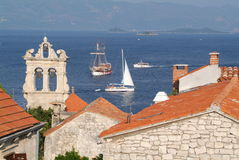 Die Stadt von Korcula, Kroatien Stockfoto