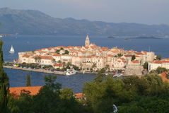Die Stadt von Korcula, Kroatien Lizenzfreie Stockfotografie