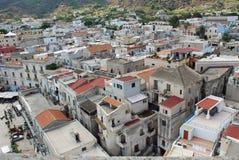 Die Stadt von Lipari äolischer Insel, Italien Stockfotografie