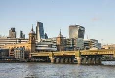 Die Stadt von London, eine Nahaufnahmeansicht lizenzfreies stockfoto
