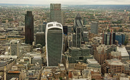 Die Stadt von London von der Scherbe Lizenzfreie Stockfotos