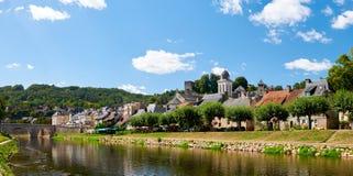Die Stadt von Montignac Stockfotografie
