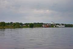 Die Stadt von Myshkin auf dem Volga Lizenzfreie Stockfotografie