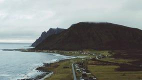 Die Stadt von Noss in Nord-Norwegen stock video
