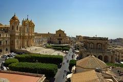 Die Stadt von Nota Sizilien Italien lizenzfreie stockfotografie