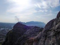 Die Stadt von Osh Ansicht vom Berg Sulaiman-Too Stockfoto