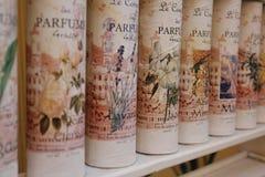 Die Stadt von parfum - Grasse, Frankreich Stockbilder