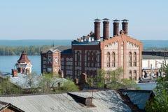 Die Stadt von Samara, die Ansicht der Brauerei Stockfotos