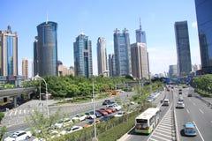 Die Stadt von Shanghai stockfotos