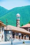 Die Stadt von sheki in Azerbaijan Stockfotos