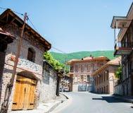 Die Stadt von sheki in Azerbaijan Stockbilder