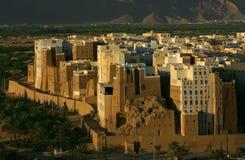Die Stadt von Shibam Stockfotos