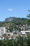 Die Stadt von Smolyan im Rhodope-Berg Stockfoto