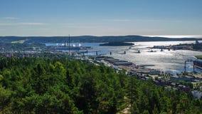 Die Stadt von Sundsvall, Schweden Stockfotografie